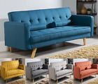 Modern Sofa bed Brand New Fabric 3 Seater Padded Sofabed Suite With...