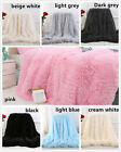 NEW Solid Long Pile Throw Blanket Soft Faux Fur Warm Shaggy Cover 130*160CM image