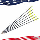 "6/12/24PCS 28"" Archery Fiberglass Shaft Arrows Spine 700 F Bow Hunting Practice"