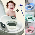 Potty Training Seat For Kids Girls Toilet Seat With Cushion Handle Backrest HY image