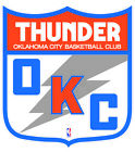 Oklahoma City Thunder Shield  Logo Vinyl Decal / Sticker 2 Inches to 48 Inches!! on eBay
