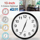 10'' Silent Wall Clock Classic Modern Quartz Non-ticking Round Home Office