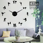 Korean Martial Art Taekwondo Figures DIY Giant Wall ClockKarate Guys Sticker