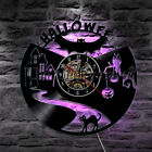Halloween Wall Clock Vampire Bats Vinyl Record Wall Clock Black Cat Decor Watch