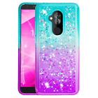 For Alcatel PIXI 4/1X Evolve/7 Folio Shockproof Glitter Quicksands Case Cover