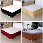 Wrap Around Bed Skirt Polyester/Microfiber Elastic Dust Ruffle Three Fabric Side image