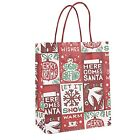 8 Style Kraft Paper Carrier Present Gift Bags Handle Christmas Festival Shopping