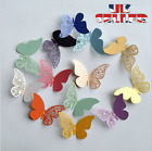 12pcs Butterfly 3d Wall Stickers Decors Wall Art Wall Home Decorations Fridge Uk