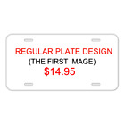 Custom Novelty License Plate With Miror Design Add Names Or Pictures