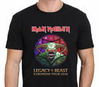 IRON MAIDEN LEGACY OF THE BEAST Tour 2018 T-Shirt Men's Black size S to 3XL image