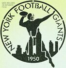 Vintage 1950 New York Giants Stencil Mylar NY Football Mancave Sport Stencils $13.6 USD on eBay
