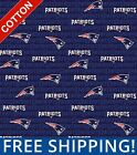 New England Patriots Emblem NFL Cotton Fabric - Style# 14500-1 - Free Shipping!! $7.95 USD on eBay