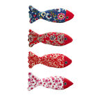 1pcs Funny Pet Kitten Cat Fish Shape Chewing Play Catnip Pillow Toys