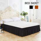 Elastic Bed Skirt Hollow Ruffle Skirt Bed Cover Valance Easy Fit Wrap Around US image