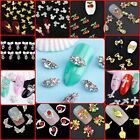 DIY 3D Nail Art Decoration Bows Flowers Roses Rhinestone Gems Stickers UK#1