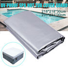 Outdoor Garden Square Waterproof Dust Spa Hot Tub Cover Cap Protector Case US