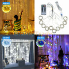 300 LED Curtain Fairy Lights USB Party Wedding Home String Light Remote Control
