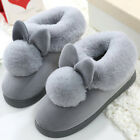Women Plush House Slippers Ladies Non Slip Indoor Winter Warm Bedroom Shoes
