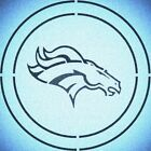 DOUBLE CIRLCE DENVER BRONCOS STENCIL MYLAR SPORT FOOTBALL MANCAVE STENCILS $15.97 USD on eBay