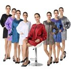 Barber Jacket Long Sleeves Haircutting Jacket Full Zip Salon Stylist Uniform