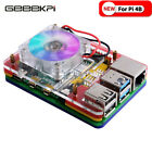GeeekPi Acrylic Case for Raspberry Pi 4 Model B,Compatible with Ice Tower Fan