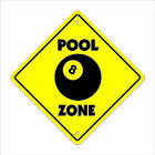 Pool Crossing Decal Zone Xing hall table 8 ball billiards cue stick hustler $17.98 USD on eBay