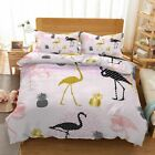 Gold Granular Bird 3D Printing Duvet Quilt Doona Covers Pillow Case Bedding Sets