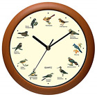 Singing Bird Wall Clock 12 Inch with New Design of the Bird Names and Songs New