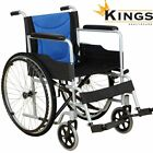 KINGS Explorer Wheelchair Self Propelled Mobility Aid Folding Steel Wheelchair
