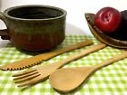 Bamboo Cutlery Utensil Set 3pc Washable Biodegradable No Zero Waste Travel Bag