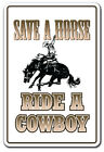 SAVE A HORSE Decal cowboy redneck rodeo cowgirl rider riding pony rodeo
