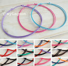 3 x Anklet or Bracelet SET Black Red String Cord Ankle Friendship Plain THIN