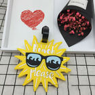 Luggage Tags Travel Silicone Cartoon Suitcase ID Address Holder Label Portable