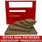 Brown Die Cut Folding Lid Postal Cardboard PIP Mailing Boxes Small Parcel C5 C6