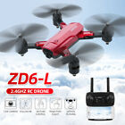ZD6 Drone x pro 2.4G WiFi FPV 4K Wide Angle Double Camera Folding RC Quadcopter