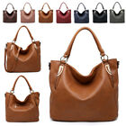 Ladies Faux Leather Bucket Shoulder Bag Hobo Slouch Work Travel Handbag MA36540