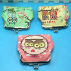 Women Metal Frame Pouch Coin Purse Girls Owl Card Key Holder Clutch Mini Wallet image