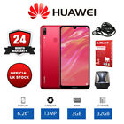 "New Huawei Y7 2019 6.26"" Unlocked Smartphone 3GB RAM, 32GB Storage - Coral Red"
