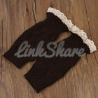 US Women Crochet Knitted Lace Trim Boot Cuffs Toppers Leg Warmers Winter Sock e
