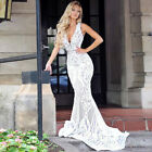 US Women's Formal Wedding Evening Cocktail Ball Gown Party Prom Long Maxi Dress