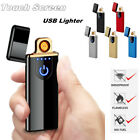 usb smart charging electronic lighter touch sensor windproof cigarette lighter