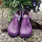 UK Womens Retro Leather Pumps Slip On Flats Ladies Beach Casual Shoes Size 4-7