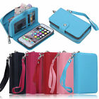PU Leather Purse Zipper Wallet Case Card Cash Holder For iPhone X/XR/XS/XS Max