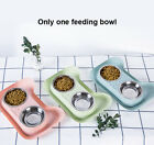Safe Pet Feeding Bowl Cute Feeder Stainless Steel Non Spill Drinking Cat Double