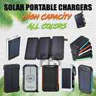 Solar Battery Charger Lightweight For Hiking USB lot Flash Light 10000mAh to 20000