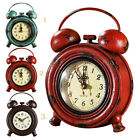 Retro Decorative Round Metal Dial Wall Clock Desk Clock Home Decoration Battery