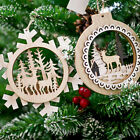 Rustic Wood Hollow Tags Wooden Christmas Tree Pendant Hanging Ornaments