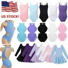 US Kid Girls Ballet Leotard Dance Dress Sleeveless Gymnastics Bodysuit Dancewear