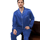 Mens Silk Satin  Pajamas - PJ Set  Top and Bottom  <br/> USA Seller - FAST SHIPPING - Designer High Quality