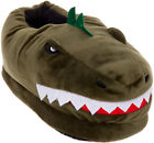 Silver Lilly Dinosaur Plush T-Rex House Slippers w/ Memory Foam Support